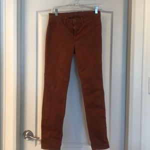 J Brand burnt orange jeans
